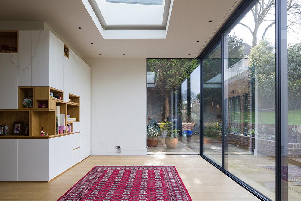 Cholmeley Park, N6 glass sliding doors