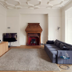 Fitzjohns Avenue, NW3 lounge and fireplace