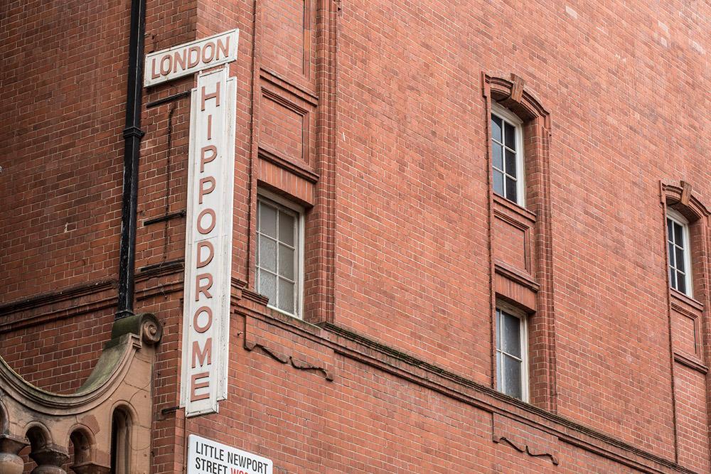 Hippodrome, London outdoor signage