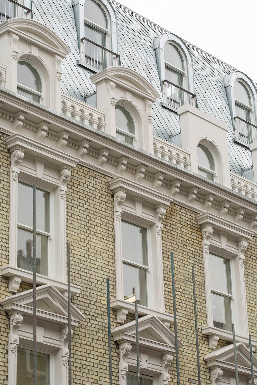 Kings Cross, London, WC1 facade close up